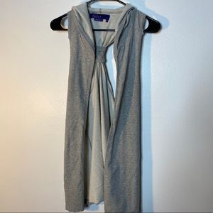 Grey Hooded Sleeveless Vest Jacket Miley Cyrus